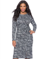 ELOQUII Plus Size Printed Front Wrap Dress