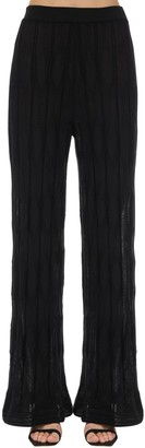 M Missoni Flared Wool & Viscose Knit Pants