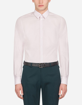 Dolce & Gabbana Martini Fit Shirt In Cotton