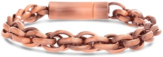 Reinforcements 18K Rose Gold Plated Stainless Steel Rolo Chain Bracelet