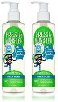 Fresh Monster Kids Shampoo & Body Wash, Ocean Splash (2 Pack, 8oz/ea) - Toxin-Free - Sulfate-Free - Paraben-Free - Natural Botanical Extracts - Hypoallergenic - Natural Kids Shampoo & Bodywash