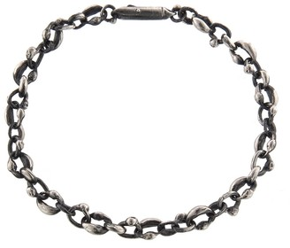 Ten Thousand Things Link Oval Bracelet - Blackened Sterling Silver