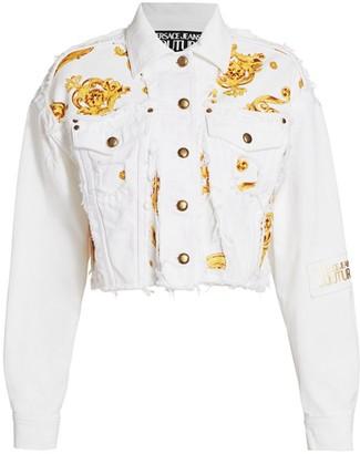 Versace Lady Baroque Denim Jacket