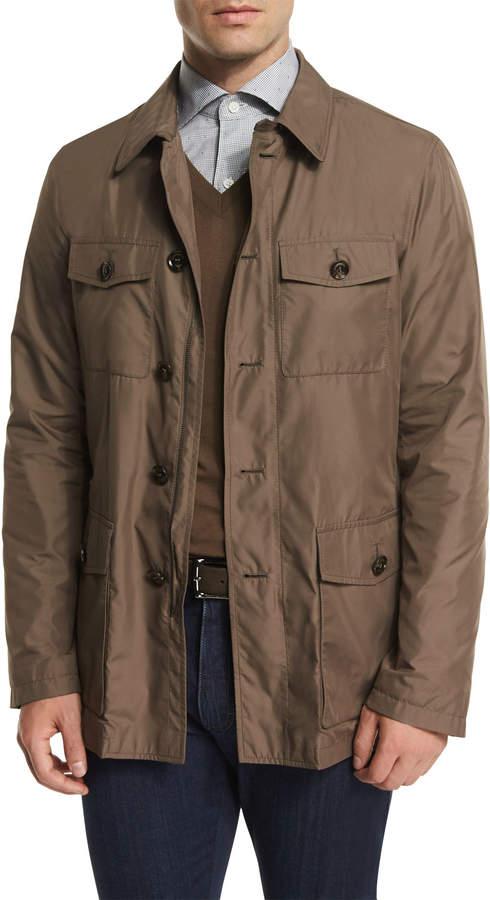 Ermenegildo Zegna Button-Down Safari Jacket