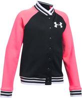Under Armour Contrast Sleeve Varsity Jacket, Big Girls (7-16)