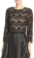 Eliza J Women's Lace Crop Top