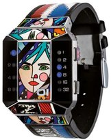 01 The One 01TheOne Unisex SC122B1 Split Screen Romero Britto Art Limited Edition Watch