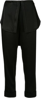 Hellessy slim fit shirt tail trousers