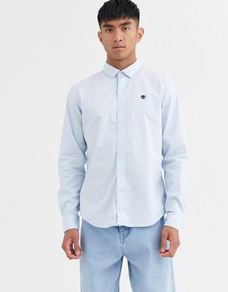 Timberland stretch poplin shirt-Blue