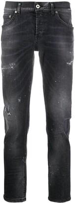 Dondup Paint-Splatter Slim-Fit Jeans