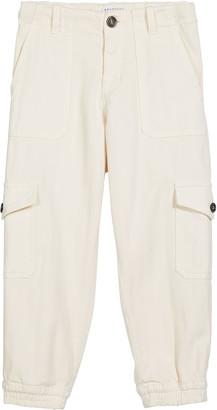 Brunello Cucinelli Boy's Cotton Twill Cargo Jogger Pants, Size 12-14