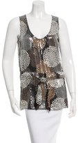 Tory Burch Sequin Embellished Silk Top w/ Tags
