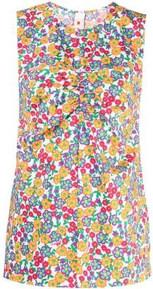 Marni Pop Garden-print puckered top