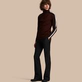 Burberry Mohair Wool Blend Boot-cut Trousers