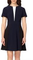 Tahari Petite Women's Colorblock Fit & Flare Dress
