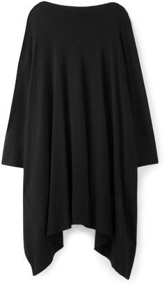 St. John Cashmere Poncho Sweater