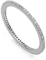Monica Vinader Silver Diamond Skinny Eternity Ring