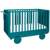Laurette Rolling evolutive 60x120 cm bed - canary blue