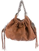 Thomas Wylde Chain-Embellished Leather Handle Bag