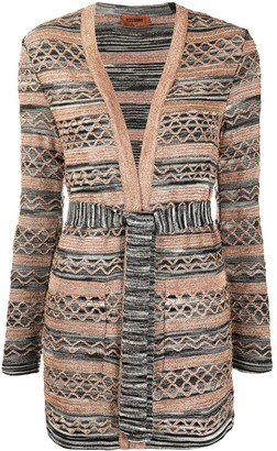 Missoni Knitted Tie-Waist Cardi-Coat