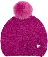 Monsoon Crafty Knitted Flower Beanie Hat