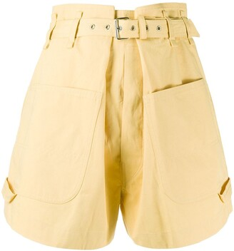 Isabel Marant Ike belted cotton shorts