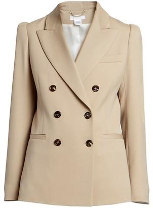 Chloé Stretch Wool Double Breasted Blazer