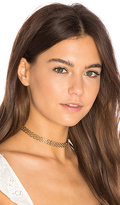 joolz by Martha Calvo Panther Link Choker in Metallic Gold.
