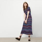 Maje Jacquard knit long skirt