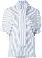 J.W.Anderson rouched sleeve blouse - women - Cotton - 10