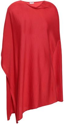 Brunello Cucinelli One-shoulder Bead-embellished Cashmere And Silk-blend Top
