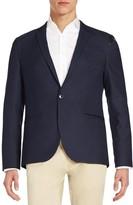 Hugo Boss Red Adgert Regular-Fit Faux Leather-Trim Sportcoat