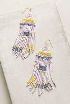 Anthropologie Geo Pastel Beaded Earrings