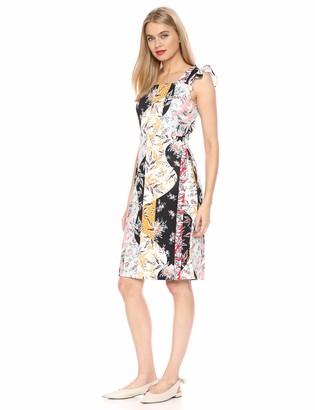 Sam Edelman Women's Sleeveless Floral Stripe Scuba Dress