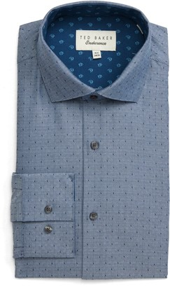 Ted Baker Reefe Trim Fit Dot Dress Shirt