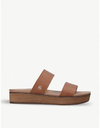 Kurt Geiger Robby faux-leather platform sandals
