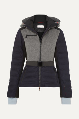 Erin Snow Kat Color-block Quilted Merino Wool-blend Ski Jacket - Navy