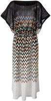 Missoni zig-zag pattern drawstring dress - women - Viscose/Cupro/Polyester - 40