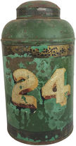 One Kings Lane Vintage English Painted Tea Canister