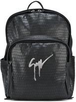 Giuseppe Zanotti Design textured backpack - men - Leather/Polyamide/metal - One Size