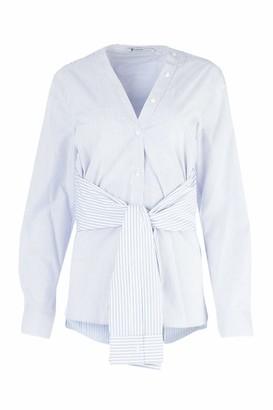 Alexander Wang Tie Waist V-Neck Shirt