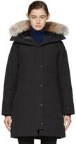 Canada Goose Black Down Black Label Shelburne Coat