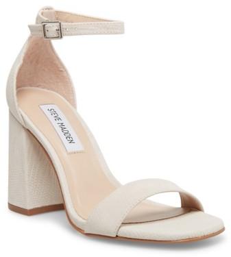 steve madden white sandal heels