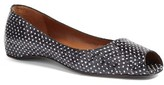 Aquatalia Women's Camille Genuine Snakeskin Peep Toe Flat