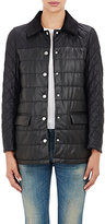 Barneys New York Women's Leather Quilted Jacket-BLACK