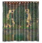 SherieHallborg Polyester Bath Curtains Of Gustav Klimt Art Painting For Relatives Mother Father Family Her. Easy Clean Width X Height / 72 X 72 Inches / W * H 180 By 180 Cm(fabric)