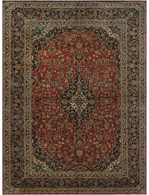 """Elia Bloomsbury Market One-of-a-Kind Semi-Antique Hand-Knotted 9'6"""" x 12'10"""" Wool Rust Area Rug Bloomsbury Market"""