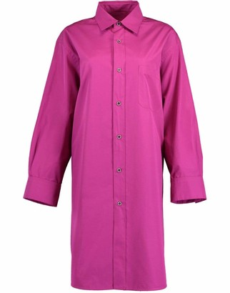 Marni Lavender Long Sleeve Button Front Shirt Dress