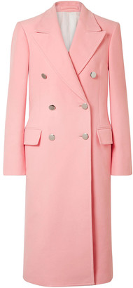 Calvin Klein Double-breasted Brushed Cotton-twill Coat