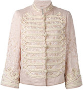 Ermanno Scervino double-breasted high neck jacket - women - Cotton/Linen/Flax/Viscose - 40